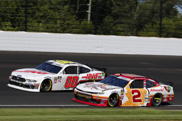 #2: Tyler Reddick, Richard Childress Racing, Chevrolet Camaro Anderson's Maple Syrup and #00: Cole Custer, Stewart-Haas Racing, Ford Mustang Haas Automation