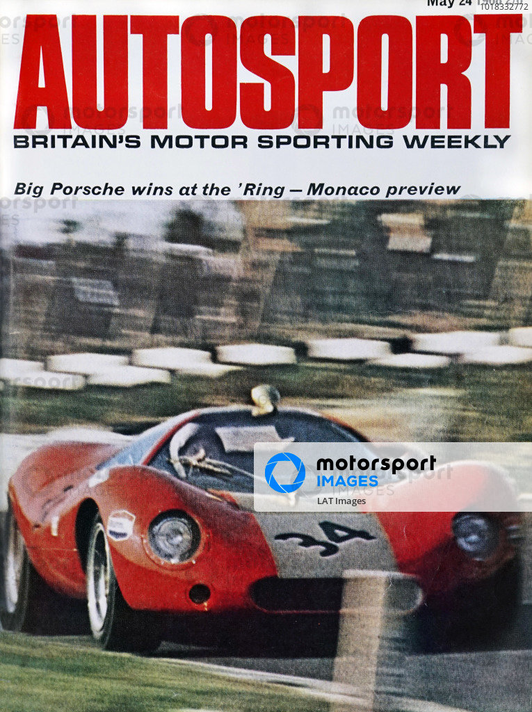 Cover of Autosport magazine, 24th May 1968