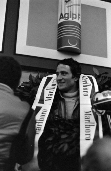 Patrick Depailler, 1st position, on the podium.