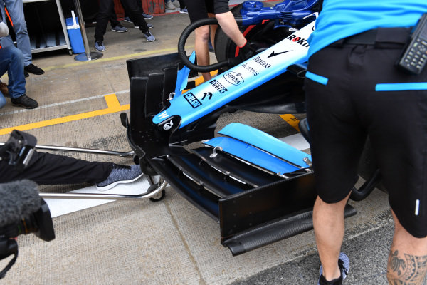 Williams FW42 nose and front wing detail