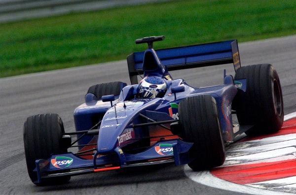 2001 Malaysian Grand Prix.Sepang, Kuala Lumpur, Malaysia. 16-18 March 2001.Jean Alesi (Prost AP04 Acer). World Copyright - Steve Etherington/LAT Photographic.ref: 18mb Digital Image