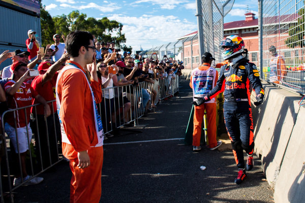Race retiree Daniel Ricciardo (AUS) Red Bull Racing at Formula One World Championship, Rd1, Australian Grand Prix, Race, Albert Park, Melbourne, Australia, Sunday 26 March 2017.