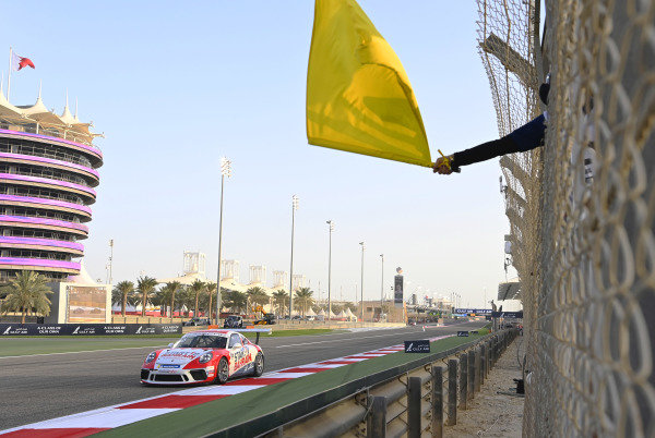 Jaber Al Khalifa (BAH), Team Bahrain, passes a yellow flag