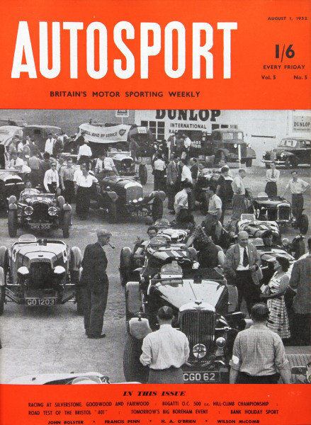 Cover of Autosport magazine, 1st August 1952
