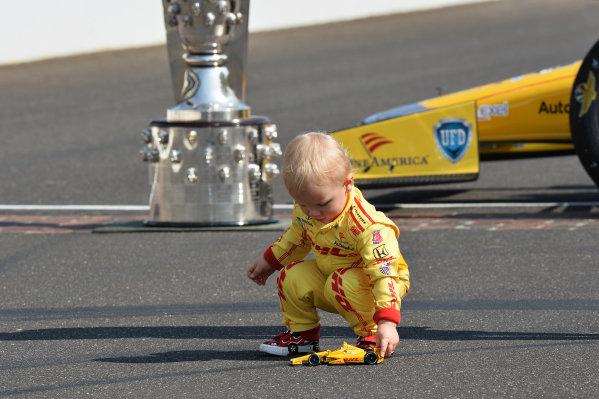 Ryden Hunter-Reay (USA) son of Indy 500 winner Ryan Hunter-Reay (USA) Andretti Autosport.Verizon IndyCar Series, Rd4, Indianapolis 500, Indianapolis, USA, 26 May 2014.
