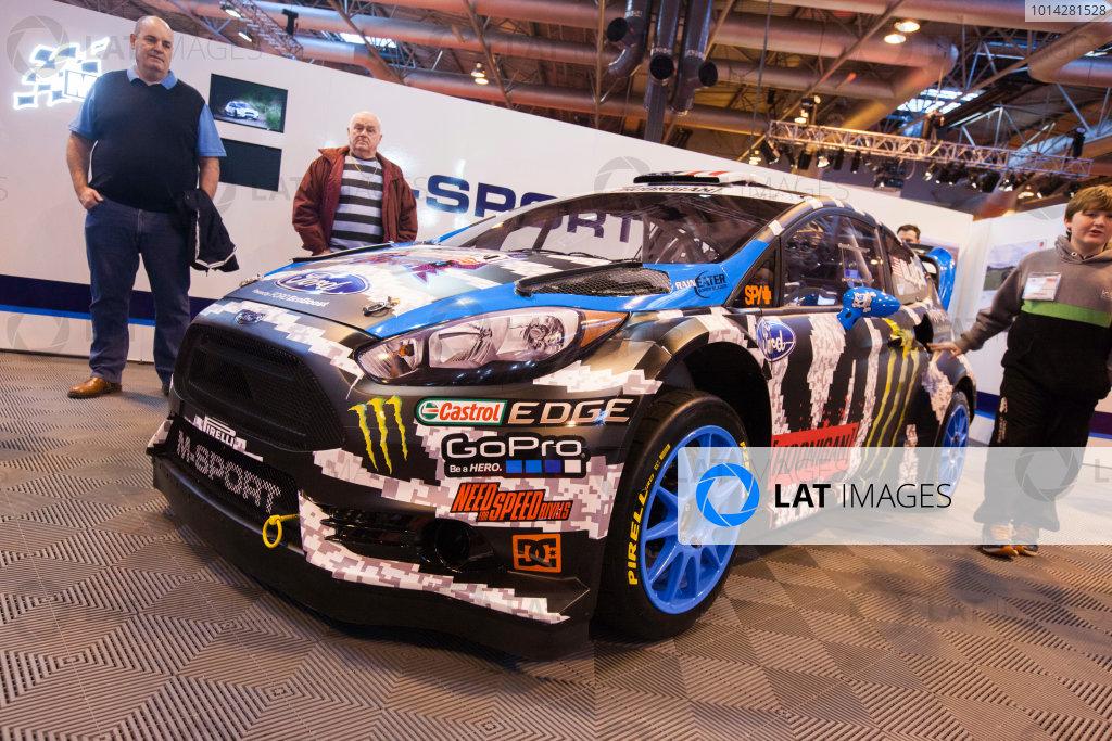 Autosport International Exhibition. National Exhibition Centre, Birmingham, UK. Friday 9 January 2015. Ford on the M-Sport stand. World Copyright: Edd Hartley/Jakob Ebrey/LAT Photographic. ref: Digital Image _MG_1639