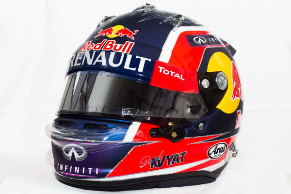 Circuito de Jerez, Jerez, Spain. Tuesday 3 February 2015. Helmet of Daniil Kvyat, Red Bull Racing.  World Copyright: Red Bull Racing (Copyright Free FOR EDITORIAL USE ONLY) ref: Digital Image 2015_RED_BULL_HELMET_10