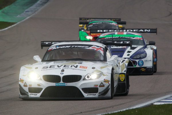 2015 British GT Championship, Rockingham, 2nd-3rd May 2015, Lee Mowle / Joe Osborne Triple Eight Racing BMW Z4 GT3  World copyright. Jakob Ebrey/LAT Photographic