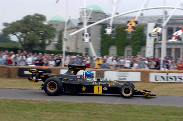 2005 Goodwood Festival of SpeedGoodwood Estate, West Sussex. 24th - 26th June ex-Ronnie Peterson Lotus 76 Cosworth. Action World Copyright: Jeff Bloxham/LAT Photographicref: Digital Image Only