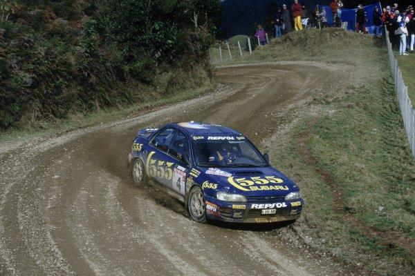 1995 World Rally Championship.New Zealand Rally, New Zealand. 27-30 July 1995.Colin McRae/Derek Ringer (Subaru Impreza 555), 1st position.World Copyright: LAT PhotographicRef: 35mm transparency 95RALLY05