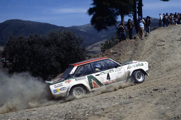 1978 World Rally Championship.Portuguese Rally, Portugal. 19-23 April 1978.Markku Alen/Ilkka Kivimaki (Fiat 131 Abarth), 1st position.World Copyright: LAT PhotographicRef: 35mm transparency 78RALLY04