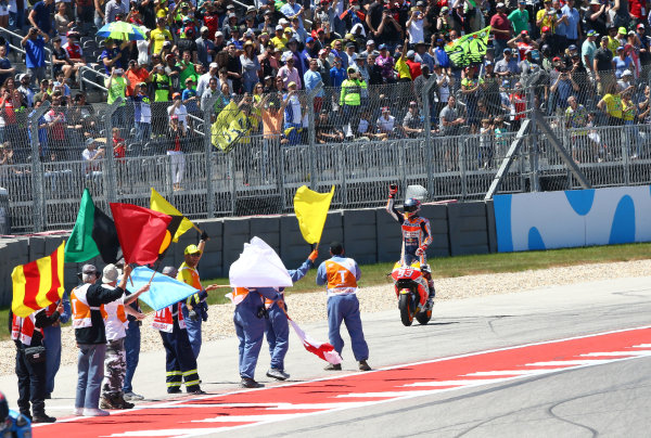 2017 MotoGP Championship - Round 3 Circuit of the Americas, Austin, Texas, USA Sunday 23 April 2017 Race winner Marc Marquez, Repsol Honda Team World Copyright: Gold and Goose Photography/LAT Images ref: Digital Image MotoGP-R-950-3038