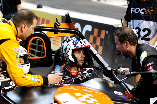 2017 Race of Champions Miami, Florida, USA Sunday 22 January 2017 Travis Pastrana with Kyle Busch and Kurt Busch World Copyright: Alexander Trienitz/LAT Photographic ref: Digital Image 2017-RoC-MIA-AT2-2985
