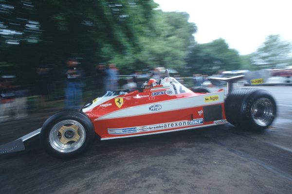2004 Goodwood Festival of Speed.  Goodwood, England. 25th-27th June 2004.  Jacques Villeneuve drives the 1978 Ferrari 312T3 of his father, Gilles Villeneuve. World Copyright LAT Photographic.