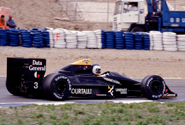 1988 Spanish Grand Prix.Jerez, Spain.30/9-2/10 1988.Jonathan Palmer (Tyrrell 017 Ford).Ref-88 ESP 27.World Copyright - LAT Photographic