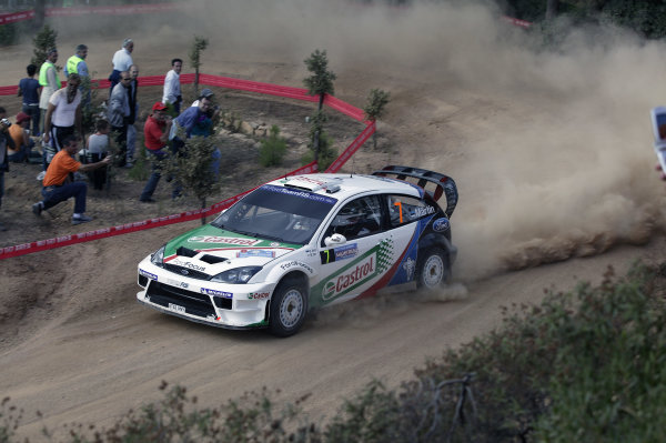 2004 FIA World Rally Champs. Round thirteen, Rally Italia Sardinia.30th September - 3rd October 2004.Markko Martin, Ford, action.World Copyright: McKlein/LAT