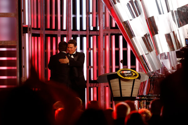 1-4 December, 2015, Las Vegas, Nevada USA Tom Cruise and Jeff Gordon ?2015, Michael L. Levitt LAT Photo USA