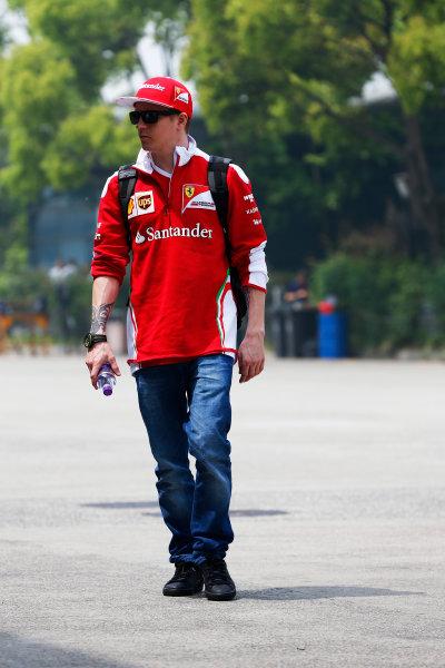 Shanghai International Circuit, Shanghai, China. Thursday 14 April 2016. Kimi Raikkonen, Ferrari.  World Copyright: Andy Hone/LAT Photographic ref: Digital Image _ONY2975