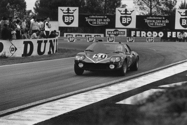 Le Mans, France. 13-14 June 1970 Guy Ligier/Jean-Claude Andruet (Ligier JS1 Ford), retired, action. World Copyright: LAT PhotographicRef: 3140 - 18A-19.