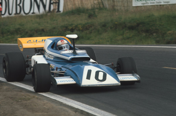 1972 French Grand Prix.  Clermont-Ferrand, France. 30th June - 2nd July 1972.  Rolf Stommelen, March 721 Ford, 16th position.  Ref: 72FRA42. World Copyright: LAT Photographic