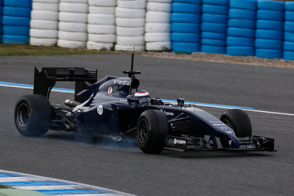2014 F1 Pre Season Test 1 - Preview Circuito de Jerez, Jerez, Spain. Tuesday 28 January 2014.  Valtteri Bottas, Williams FW36 Mercedes. World Copyright: Alastair Staley/LAT Photographic. ref: Digital Image _R6T8766