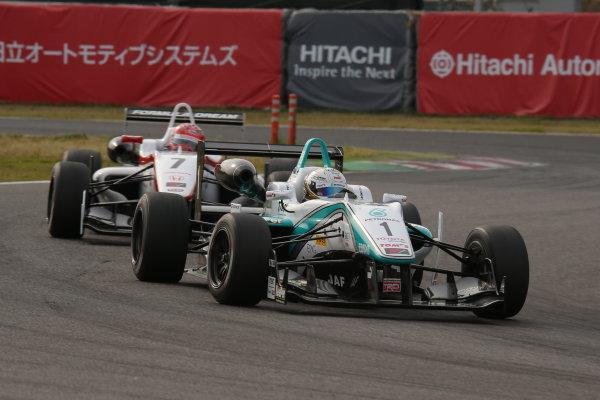 2014 All-Japan F3 Championship Suzuka, Japan. 12th - 13th April 2014. Rd 1. Race 1 - 3rd position Takamoto Katsuata ( #1 PETRONAS TEAM TOM'S ) action World Copyright: Yasushi Ishihara / LAT Photographic. Ref: 2014JF3_Rd1_009.JPG