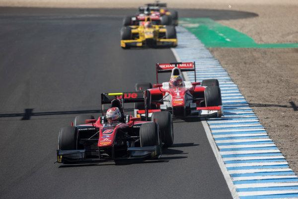 2017 FIA Formula 2 Round 10. Circuito de Jerez, Jerez, Spain. Sunday 8 October 2017. Alexander Albon (THA, ART Grand Prix).  Photo: Andrew Ferraro/FIA Formula 2. ref: Digital Image _FER3557