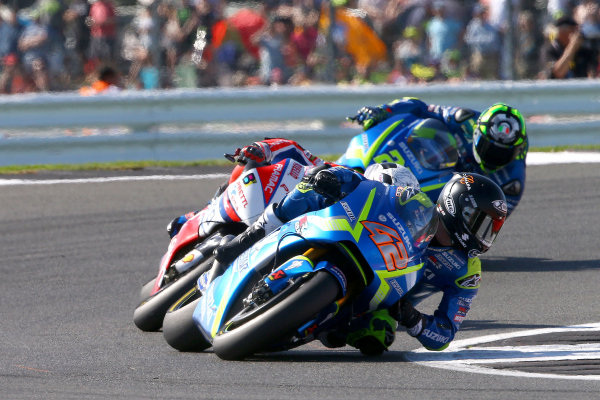 2017 MotoGP Championship - Round 12 Silverstone, Northamptonshire, UK. Sunday 27 August 2017 Alex Rins, Team Suzuki MotoGP, British MotoGP 2017  World Copyright: Gold and Goose / LAT Images ref: Digital Image 1322