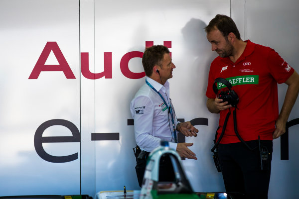 2017/2018 FIA Formula E Championship. Official Test - Valencia, Spain Monday 2 October 2017. Allan McNish - Team Priciple, Audi  Photo: Sam Bloxham/LAT/Formula E ref: Digital Image _J6I8999