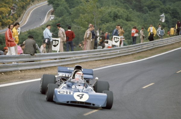Clermont-Ferrand, France. 30 June-2 July 1972.Jackie Stewart (Tyrrell 003-Ford Cosworth), 1st position.World Copyright: LAT PhotographicRef: 35mm transparency 72FRA02