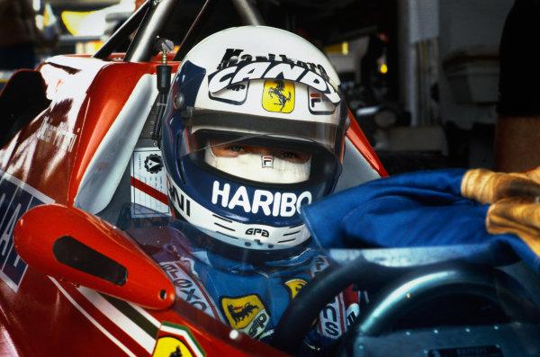 Jacarepagua, Rio de Janeiro, Brazil. 27-29 March 1981. Didier Pironi, Ferrari 126C. World Copyright: LAT Photographic. Ref: 81BRA07