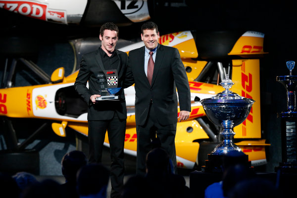 6 December, 2012, Indianapolis, Indiana, USA Rookie of the Year Simon Pagenaud.(c) 2012, Michael L. Levitt LAT Photo USA