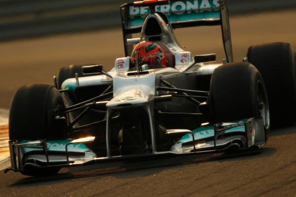 2012 Indian Grand Prix - Friday Buddh International Circuit, New Delhi, India. 26th October 2012. Michael Schumacher, Mercedes F1 W03.  World Copyright:Andrew Ferraro/LAT Photographic ref: Digital Image _Q0C8573