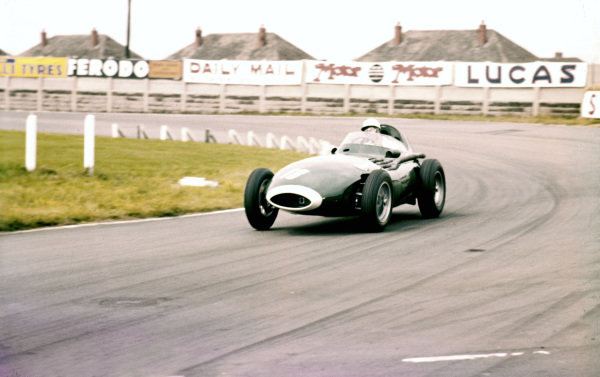 Aintree, England.18-20 July 1957.Stirling Moss (Vanwall VW1), retired.Ref-57 GB 02.World Copyright - LAT Photographic