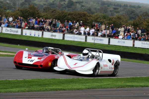 Goodwood Estate, West Sussex, 15th - 18th September 2011 Whitsun Trophy Jay ESTERER, Chinook-Chevrolet Mk2, 1st position, with Paul KNAPFIELD, Lola-Chevrolet T70 Spyder, action. World Copyright:Jeff Bloxham/LAT Photographic Ref: Digital Image