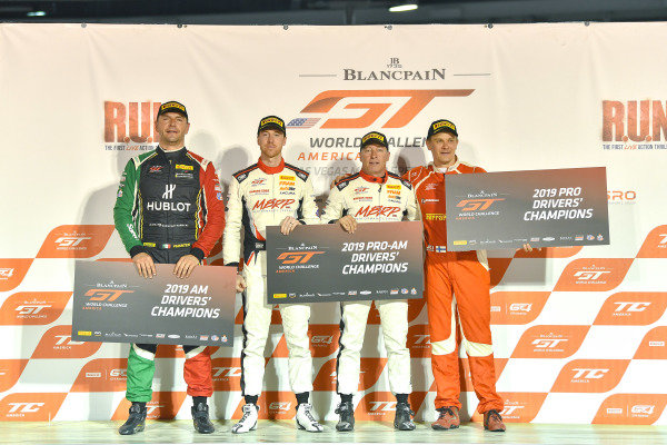 #61 Ferrari 488 GT3 of Toni Vilander with R. Ferri Motorsport  Martin Fuentes  Martin Barkey  and Kyle Marcelli  2019 Blancpain GT World Challenge America - Las Vegas, Las Vegas NV
