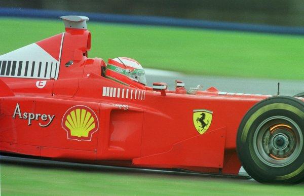 1998 British Grand Prix.Silverstone, England.10-12 July 1998.Eddie Irvine (Ferrari F300) 3rd position.World Copyright - LAT Photographic