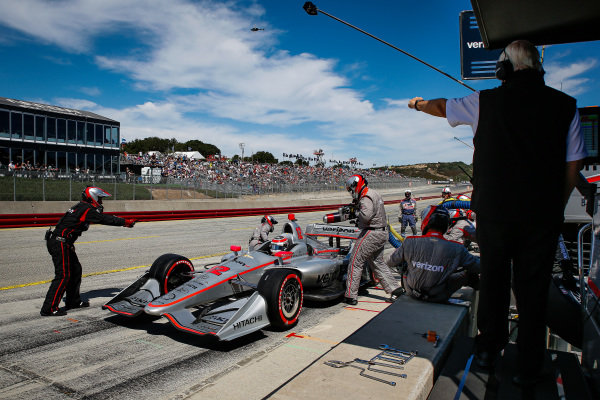 Will Power, Team Penske Chevrolet pit stop, Will Power