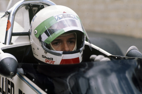 Lella Lombardi sits in her Brabham BT42 Ford for her first F1 race weekend.