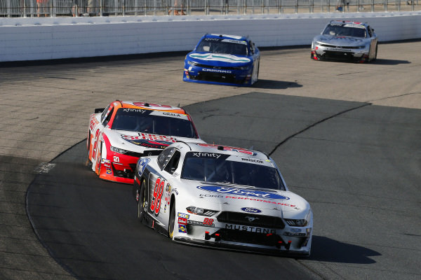 #98: Chase Briscoe, Stewart-Haas Racing, Ford Mustang Ford Performance and #21: Kaz Grala, Richard Childress Racing, Chevrolet Camaro HotScream