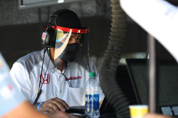 Honda Racing engineer for Andretti Autosport, Copyright: Chris Owens - IMS Photo.