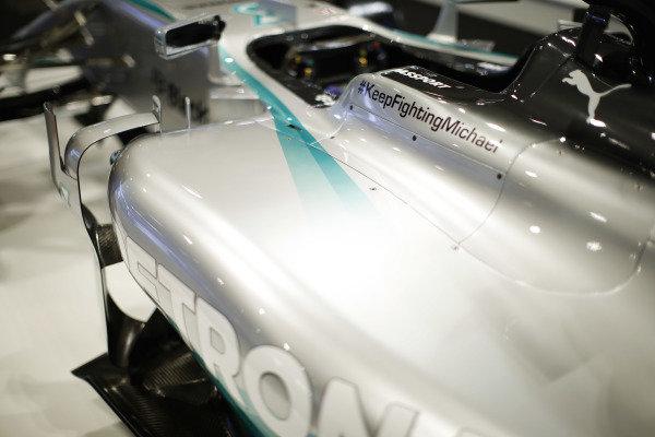 Detail of Lewis Hamilton's AMG Mercedes-Benz