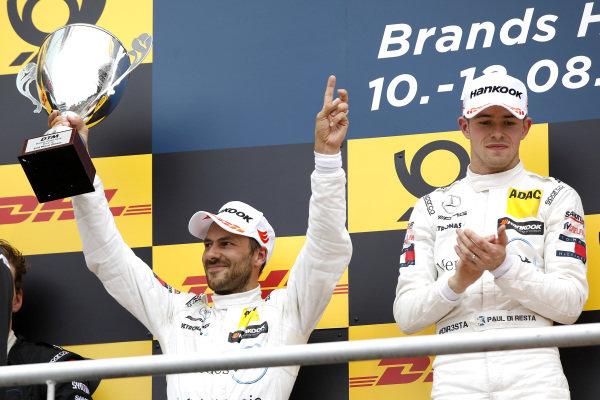 Podium: second place Gary Paffett, Mercedes-AMG Team HWA.