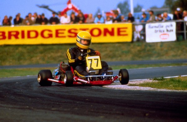 Ayrton Senna (BRA). World Karting Championship, Kalmar, Sweden. 1980