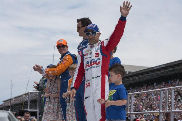Tony Kanaan, A.J. Foyt Enterprises Chevrolet, during driver introductions