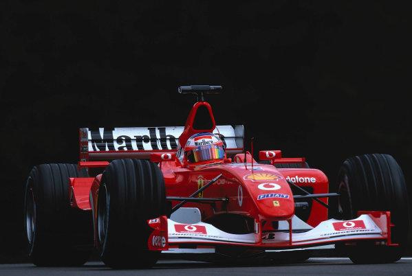 2002 Austrian Grand Prix.A1-Ring, Zeltweg, Austria.10-12 May 2002.Rubens Barrichello (Ferrari F2002) 2nd position.Ref-02 AUT 23.World Copyright - LAT Photographic