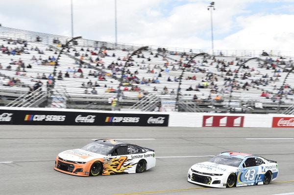 #7: Corey LaJoie, Spire Motorsports, Chevrolet Camaro Schluter Systems, #43: Erik Jones, Richard Petty Motorsports, Chevrolet Camaro Medallion Bank
