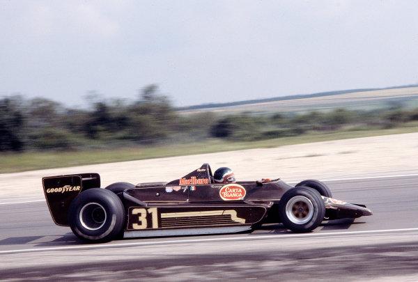 1979 French Grand Prix.Dijon-Prenois, France.29/6-1/7 1979.Hector Rebaque (Team Rebaque/Lotus 79 Ford) 12th position.Ref-79 FRA 43.World Copyright - LAT Photographic
