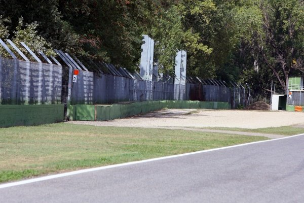The Tamburello wall where Ayrton Senna (BRA) crashed fatally.