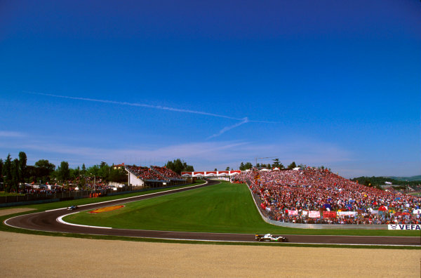 Imola, Italy.3-5 May 1996.A view of Rivazza and a massive swarm of tifosi.Ref-96 SM 17.World Copyright - LAT Photographic